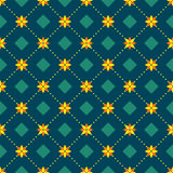 Abstraktes nahtloses Muster mit Florenelementen lizenzfreie abbildung