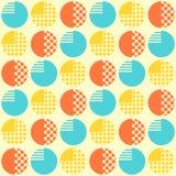Abstraktes nahtloses Muster mit geometrischen Gegenständen stock abbildung