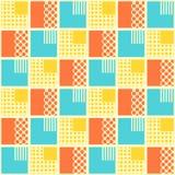 Abstraktes nahtloses Muster mit geometrischen Gegenständen vektor abbildung