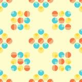 Abstraktes nahtloses Muster mit geometrischen Gegenständen lizenzfreie abbildung