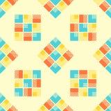 Abstraktes nahtloses Muster mit geometrischen Gegenständen Lizenzfreie Stockfotografie