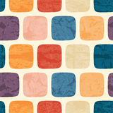 Abstraktes nahtloses Muster mit grunged buntem Quadrat Lizenzfreie Stockbilder