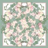 Abstraktes nahtloses Muster mit Hand gezeichneten Florenelementen Stockbild