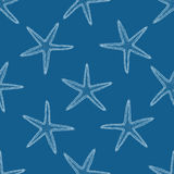 Abstraktes nahtloses Muster mit Hand gezeichneten Muscheln vektor abbildung