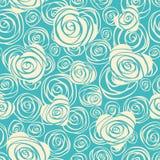 Abstraktes nahtloses Muster mit Herzen und Rosen Lizenzfreies Stockfoto