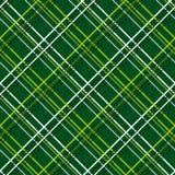 Abstraktes nahtloses Muster mit Plaid-Gewebe auf einem dunkelgrünen Hintergrund Lizenzfreie Stockfotografie