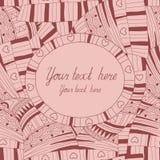Abstraktes nahtloses Muster mit Platz für Ihren Text Stockbilder