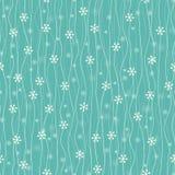 Abstraktes nahtloses Muster mit Schneeflocken Stockfotografie