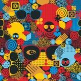 Abstraktes nahtloses Muster mit schwarzer Frau. Lizenzfreie Stockfotografie