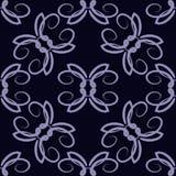 Abstraktes nahtloses Muster mit Strudeln Wiederholte blaue Beschaffenheit lizenzfreie abbildung