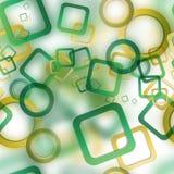 Abstraktes nahtloses Muster mit unscharfen Kreisen und Quadraten Stockfoto
