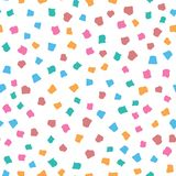 Abstraktes nahtloses Muster mit verschiedenen geometrischen Formen Bunte vektorabbildung stock abbildung