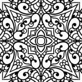 Abstraktes nahtloses Muster Netter Spitzehintergrund des Vektors Linie Kunst Stockfotografie