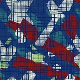 Abstraktes nahtloses Muster Schmutzbeschaffenheitshintergrund von Streifen vektor abbildung