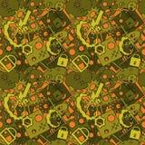 Abstraktes nahtloses Muster Vektor Stockbilder