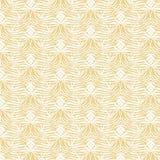 Abstraktes nahtloses Muster Vektorhintergrund in den gelben und weißen Farben Stockfotografie