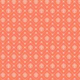 Abstraktes nahtloses Muster Vektorhintergrund in den orange und weißen Farben Stockfotos