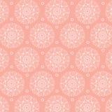 Abstraktes nahtloses Muster Vektorhintergrund in den rosa und weißen Farben Stockbilder