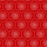 Abstraktes nahtloses Muster Vektorhintergrund in den roten und weißen Farben Lizenzfreies Stockfoto
