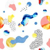 Abstraktes nahtloses Muster von den flüssigen Formen, geometrisch, minimal, Schmutzelement, Gekritzel, Beschaffenheiten stock abbildung