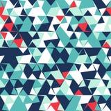 Abstraktes nahtloses Muster von Ecken und von Dreiecken Optische Täuschung der Bewegung Helles Jugendmuster lizenzfreie abbildung