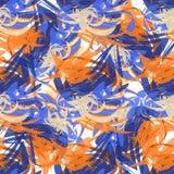Abstraktes nahtloses Muster von Farbenanschlägen Stockfotografie