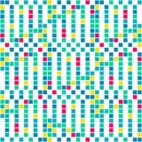 Abstraktes nahtloses Muster von hellen Quadraten Bewegung von geometrischen Formen Stockfotografie