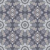 Abstraktes nahtloses Muster von Punkten und von Locken Stockfoto