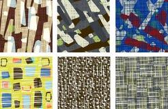Abstraktes nahtloses Musterset Schmutzbeschaffenheits-Hintergrundsammlung vektor abbildung