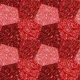 Abstraktes nahtloses rotes und rosa gesprenkeltes Muster mit Marmorstruktur Lizenzfreie Stockbilder