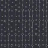 Abstraktes nahtloses Schlüsselmuster Vektorhintergrund in den grauen und weißen Farben Lizenzfreie Stockfotografie