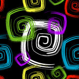 Abstraktes nahtloses schwarzes Muster (Vektor) Lizenzfreie Stockbilder
