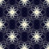 Abstraktes nahtloses Spitzemuster, helle Elemente auf dunklem Hintergrund vektor abbildung