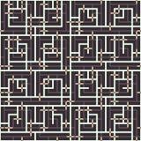 Abstraktes nahtloses Vektormuster des Schneidens der quadratischen Verzierung Stockfotos
