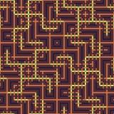 Abstraktes nahtloses Vektormuster des Schneidens der quadratischen Verzierung Stockfotografie
