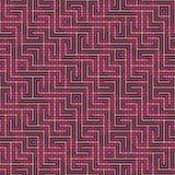 Abstraktes nahtloses Vektormuster des Schneidens von quadratischen Verzierungen Stockbild
