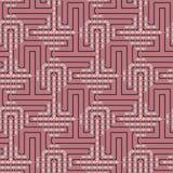 Abstraktes nahtloses Vektormuster des Schneidens von quadratischen Verzierungen Lizenzfreies Stockbild