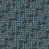 Abstraktes nahtloses Vektormuster des Schneidens von quadratischen Verzierungen Stockfotografie