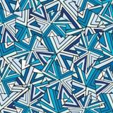 Abstraktes nahtloses vektormuster Kalter geometrischer Hintergrund Modebeschaffenheit für Gewebe oder Verpackungsdesign Stockfotos