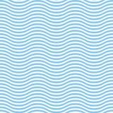 Abstraktes nahtloses Wellen-Muster Stockbilder