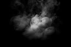 Abstraktes Nebel- oder Rauchverschiebung auf schwarzem Hintergrund Stockbild