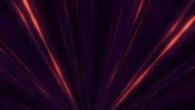 Abstraktes Neonglühen von Scheinwerferlinien animation Laser-Discolichtshow auf schwarzem Hintergrund Neonlinien sind leuchtend stock abbildung