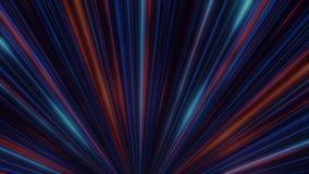 Abstraktes Neonglühen von Scheinwerferlinien animation Laser-Discolichtshow auf schwarzem Hintergrund Neonlinien sind leuchtend vektor abbildung