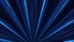 Abstraktes Neongl?hen von Scheinwerferlinien animation Laser-Discolichtshow auf schwarzem Hintergrund Neonlinien sind leuchtend stock abbildung