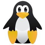 Abstraktes nettes pinguin Linux-Maskottchen Tux für Ubuntu oder Edubuntu usw. Auch im corel abgehobenen Betrag Stockbild