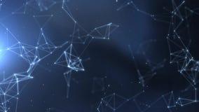Abstraktes Netz des Plexus betitelt Film- Hintergrund vektor abbildung