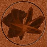 Abstraktes neues Symbol im Kreis Stockfotografie