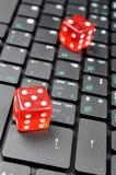 Abstraktes Online-Spiel Lizenzfreies Stockfoto