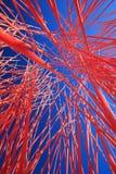 Abstraktes orange Chaos in der Perspektive Lizenzfreie Stockbilder