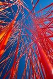 Abstraktes orange Chaos in der Perspektive Stockfotos